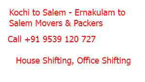 Kochi to salem moving company
