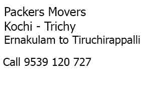 Kochi to Trichy Movers