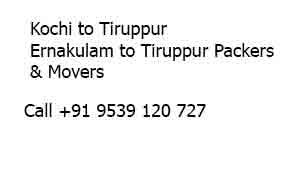 Packers and Movers Kochi to Tiruppur