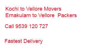 kochi to vellore movers packers