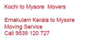 kochi to mysore movers packers