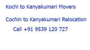 Packers and Movers Kochi to Kanyakumari