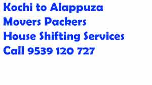Packers and Movers Kochi to Alappuzha