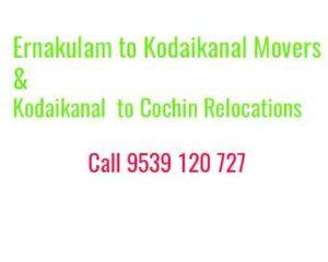 Kochi to Kodaikanal movers and packers