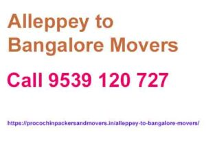 alappuzha to bangalore house removals