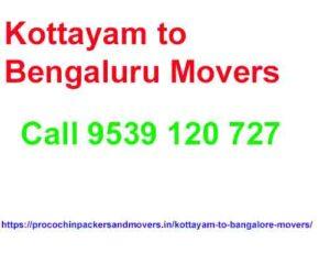 kottayam to bengaluru movers