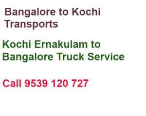 cochin to bangalore movers