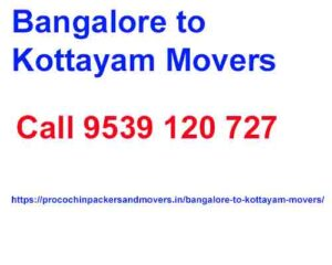 bangalore to kottayam movers