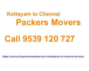 kottayam to chennai movers