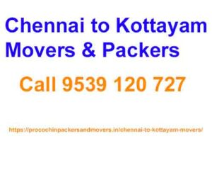 chennai to kottayam packers movers