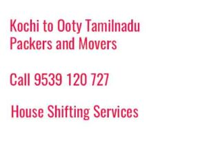 ooty to tamilnadu movers
