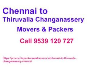 Chennai to tiruvalla changanassery movers