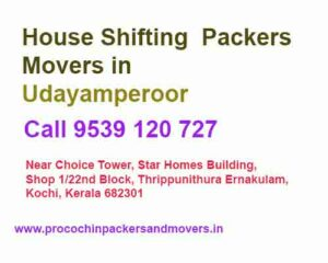 packers and movers house shifting service in udayamperoor
